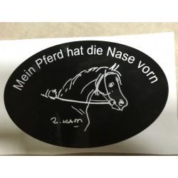 """Aufkleber """"Pferd hat die Nase vorn"""""""